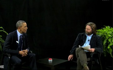 President Barack Obama and Zach Galifianakis on Between Two Ferns