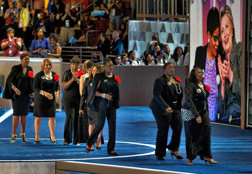 """The """"Mothers of the Movement"""" take the stage. (Photo: Geoffrey Black/EBONY)"""