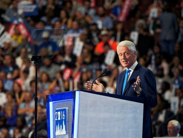 President Bill Clinton supports his wife in her run for his former job. (Photo: Geoffrey Black/EBONY)