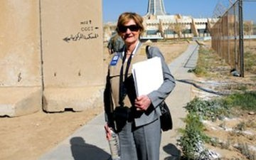 Judge Edith Jones on a visit to Iraq in 2010.
