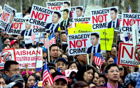 Thousands Protest to Support Cop in Akai Gurley Case