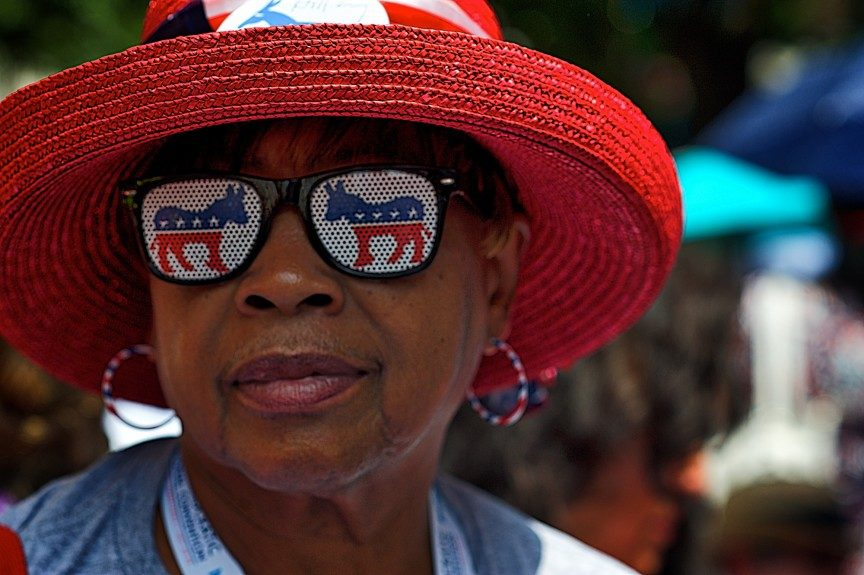 Sylvia Crier traveled from New Orleans to attend the Democratic National Convention. Photo: Geoff Black/EBONY