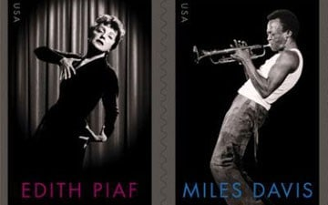 Miles Davis Saluted by U.S., French Postal Stamp