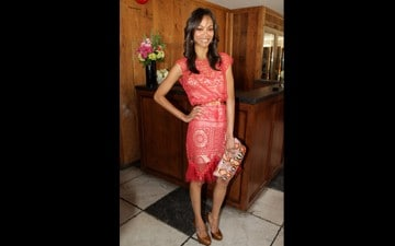 This Day in Fashion: Zoe Saldana in Alexis Mabille