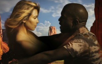 Kanye West Makes Out With Kim Kardashian in 'Bound 2' Clip