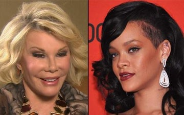 Joan Rivers and Rihanna