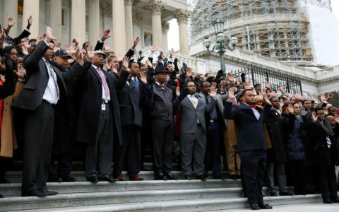 Congressional Staffers Stage Walk Out to Protest Police Killings