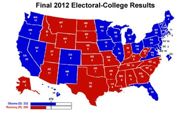 A red state/blue state chasm