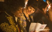Andre 3000 Benjamin as Jimi Hendrix and Imogen Poots as Linda Keith in JIMI: All Is By My Side