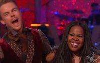 """Amber Riley and Derek Hough on """"Dancing with the Stars."""""""