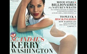 Scandal' star Kerry Washington is 'the most intriguing star' on cover of August 'Vanity Fair.'