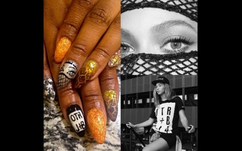 Would You Rock This On The Run Inspried Manicure Ebony