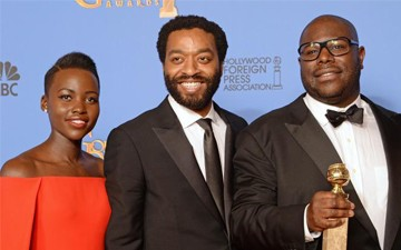 Lupita Nyong'o, Chiwetel Ejiofor and Steve McQueen