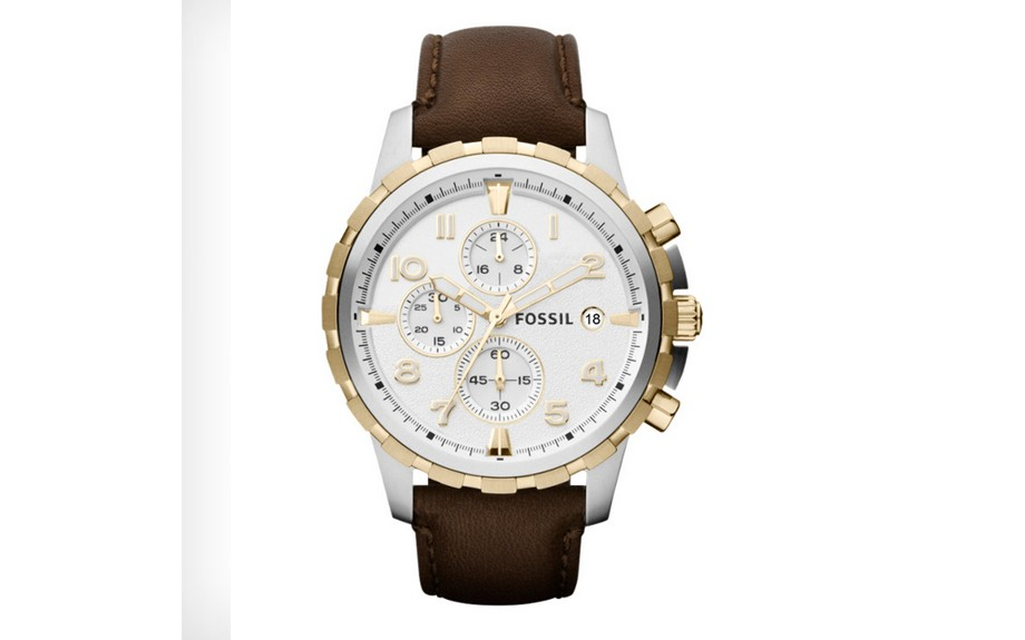 Fossil Dean Leather Watch ($115, fossil.com)