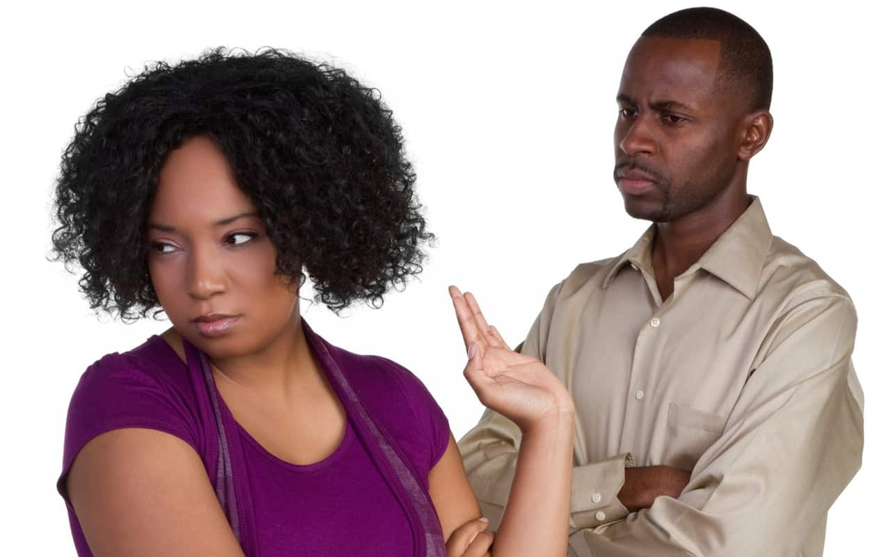 Image result for black couple argue