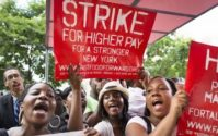 Fast-food workers across U.S. rally for $15 hourly pay