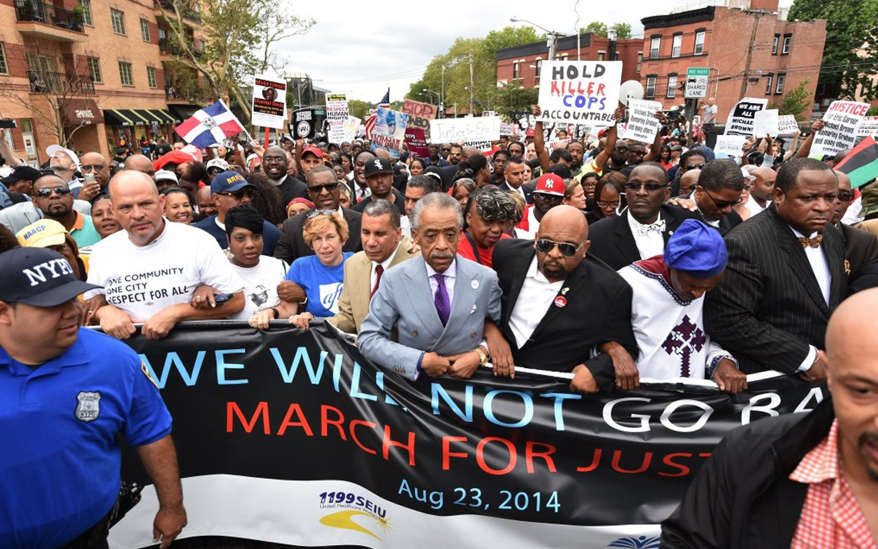 Eric Garner march al sharpton police brutality staten island NYPD