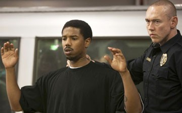 "Michael B. Jordan and Kevin Durand in ""Fruitvale Station."""