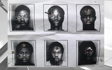 Florida police department caught using African American mug shots for target practice
