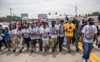 Ferguson missouri michael brown 1 Year Later protests hands up dont shoot aaron banks