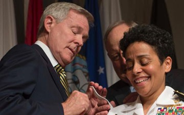 Michelle Howard Becomes 1st Female 4-Star Officer in the Navy