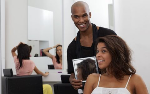 african american woman hair salon