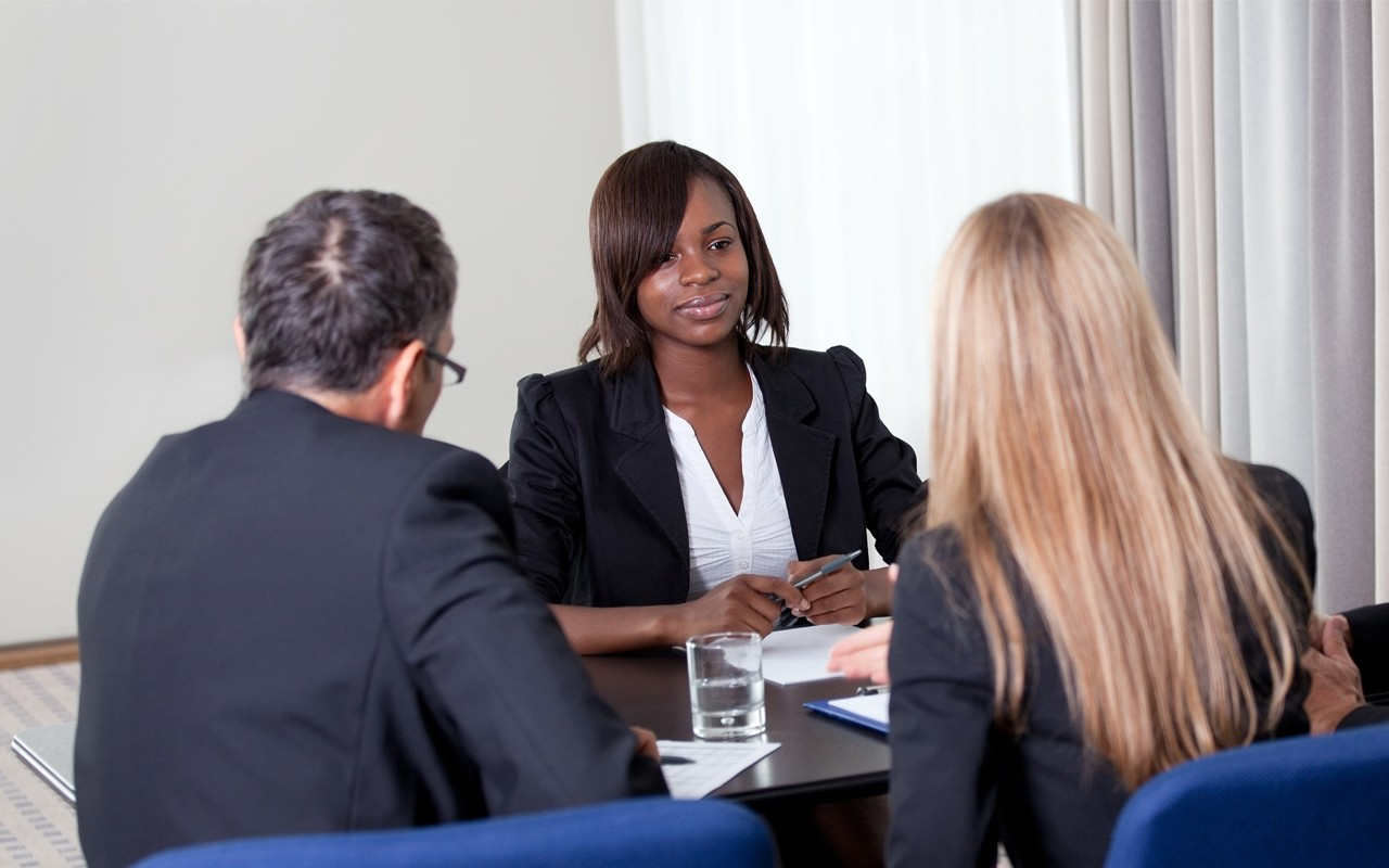 african american woman job interview