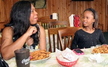 Quvenzhane Wallis and mother Qulyndreia Wallis