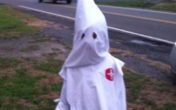 Mom dressed son as Klansman for Halloween because it's a family tradition
