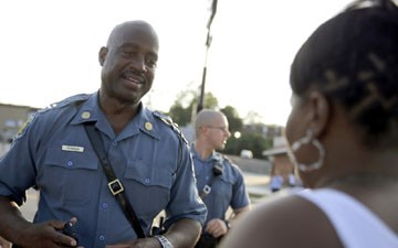 Missouri Highway Patrol Capt. Ron Johnson is not a gang member. He's just a Kappa.