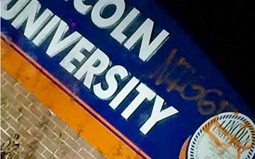 """Vandals Spray-Paint """"NIGGER"""" on Lincoln University Sign"""