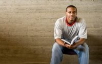 african american man reading