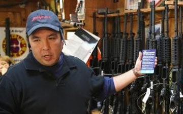 Gun Shows Packed With Customers Eager To Buy Assault Weapons