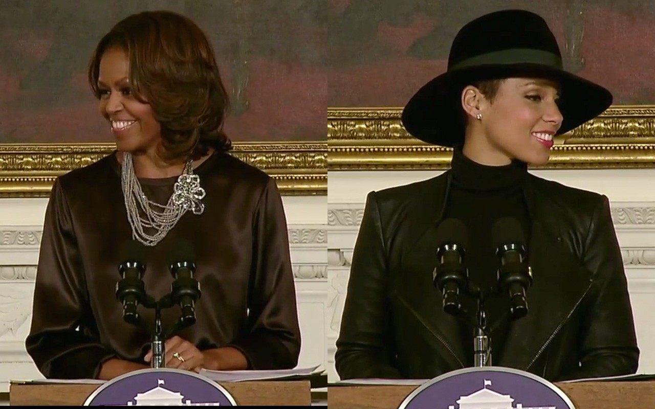 Michelle Obama and Alicia Keys at the White House