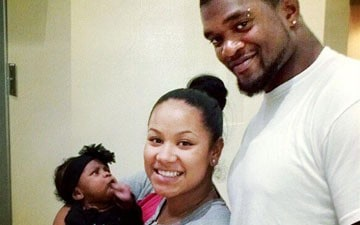 Jovan Belcher, Kasandra Perkins, and their daughter Zoey