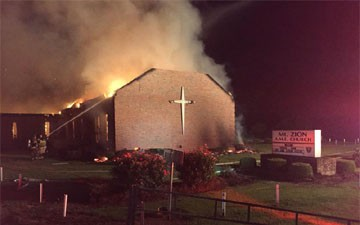Fire at black church in S.C. was not arson, feds say