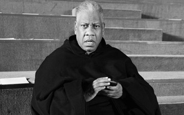 Andre Leon Talley at the fall 2013 Marc Jacobs show