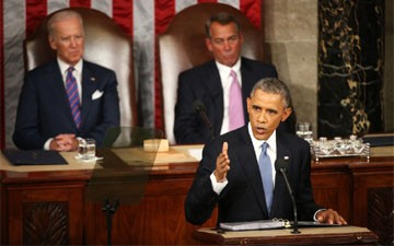 In State of the Union Speech, Obama Defiantly Sets an Ambitious Agenda