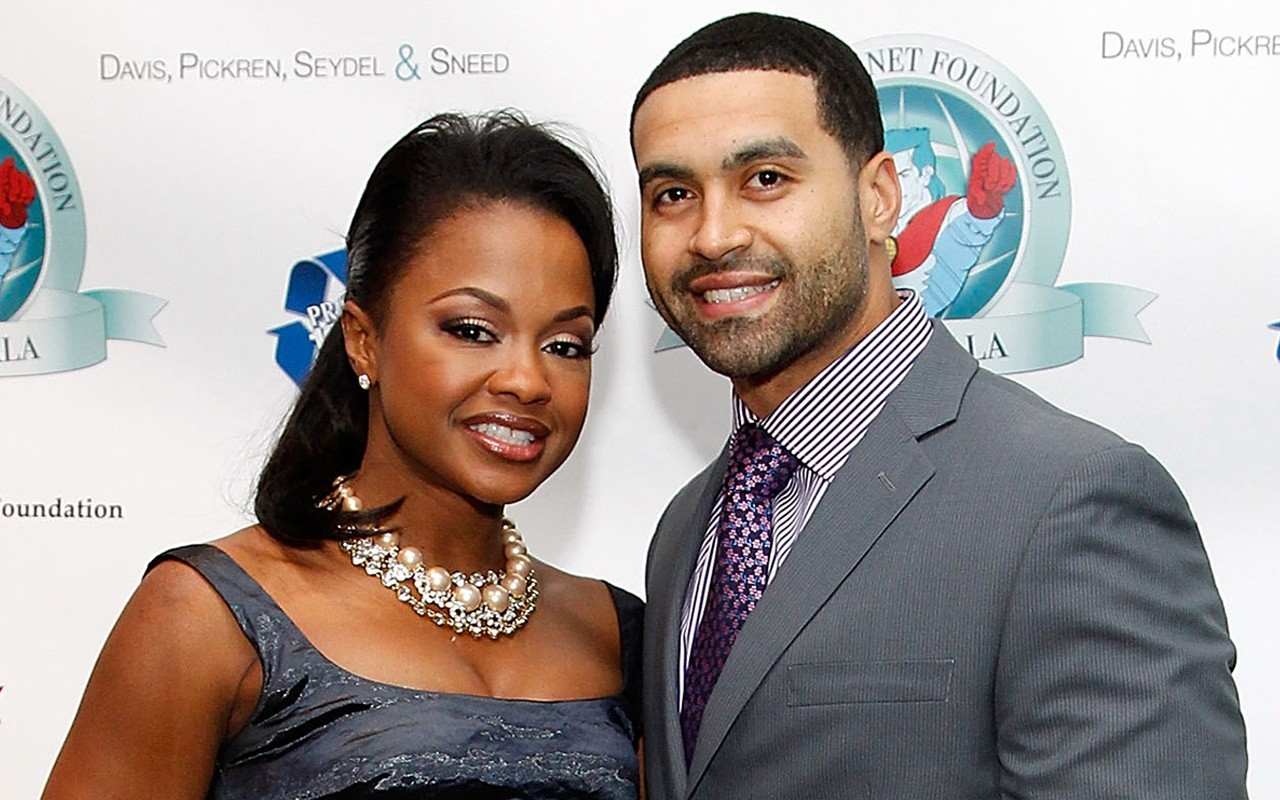 (left) Phaedra Parks and husband Apollo Nida