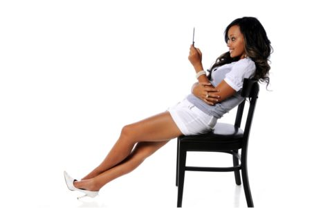 african american woman texting sexting
