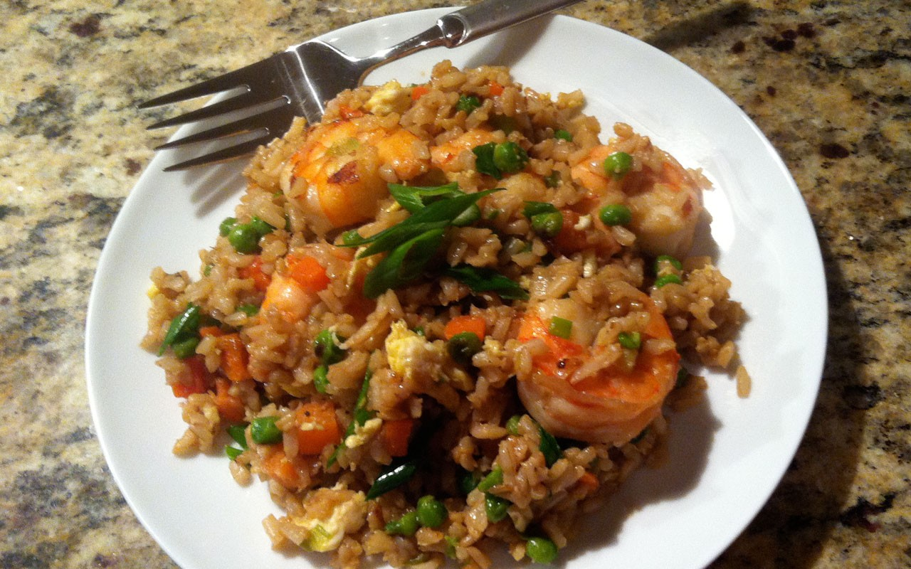 Recipe Shrimp Fried Brown Rice Ebony