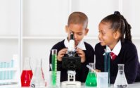 african american children science class
