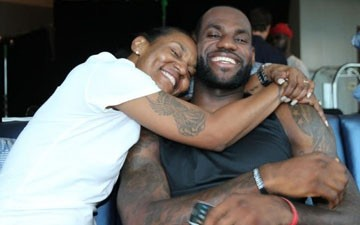 LeBron James and mother