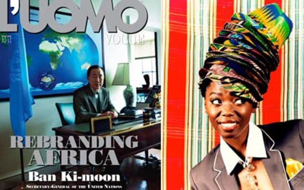 OH REALLY NOW?L'Uomo Vogue 'Rebrands' Africa