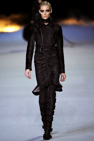Kanye West presented his sophomore women's collection Fall 2012 at Paris Fashion Week