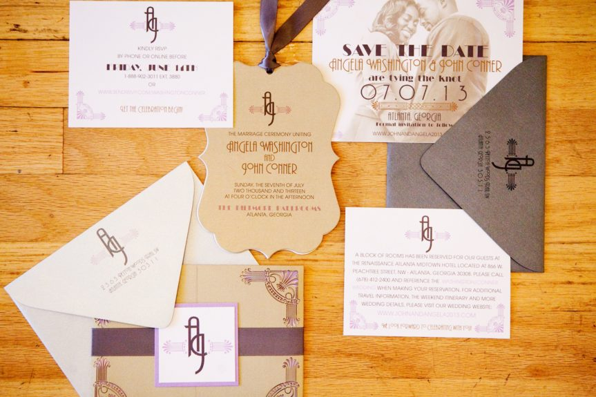 Now these are some serious wedding invitations.