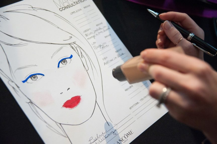 Each St. Jude patient that attended the makeover day received their own face chart, so they could emulate their new look on their own or with their friends.