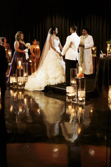 A beautiful, sexy ceremony enticed the guests.