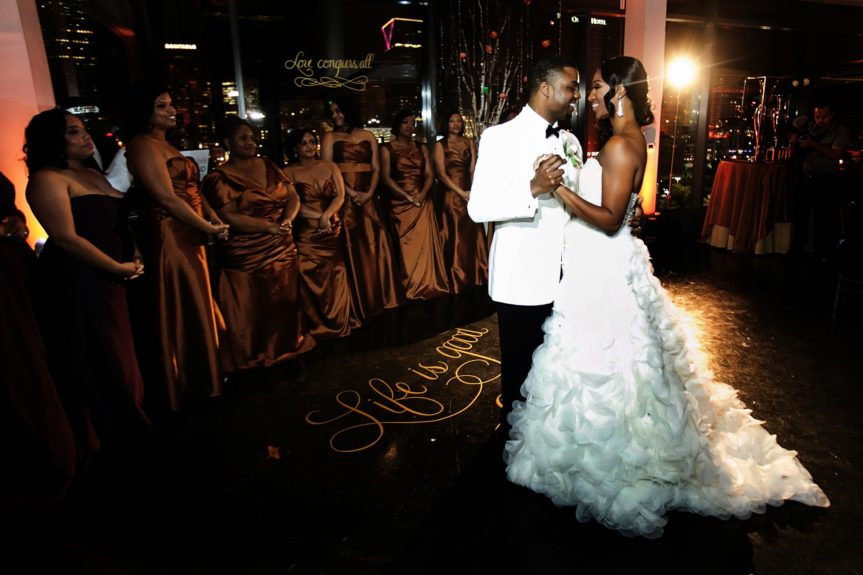 Their first dance was memorable and special.