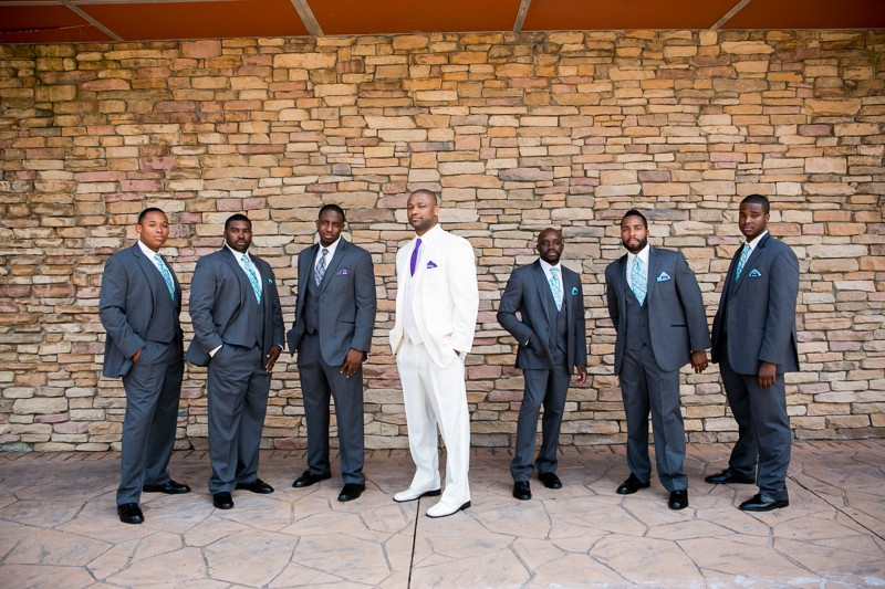The groomsmen... well, alright now!